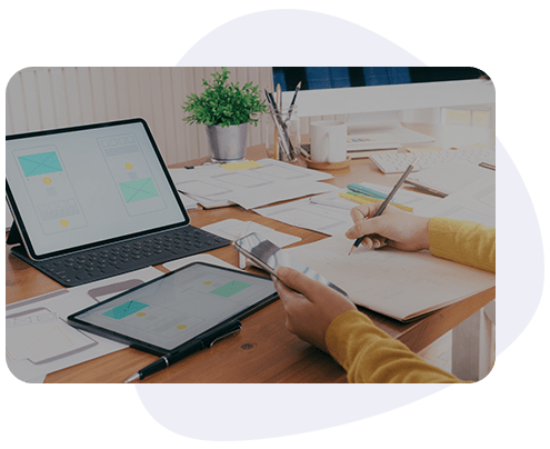 product design and Front end Development